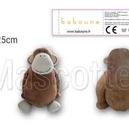 Fabrication Peluche Sur Mesure singe BABOUNE (peluche animal sur mesure).