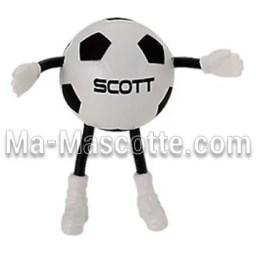 Fabrication figurine antistress sur mesure ballon football. Antistress mousse personnalisé.
