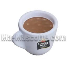 Fabrication figurine antistress sur mesure tasse de café. Antistress mousse personnalisé.
