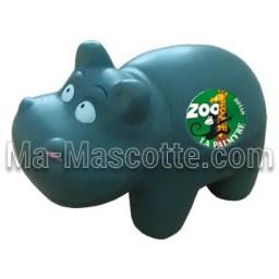 Fabrication figurine antistress sur mesure hippopotame. Antistress mousse personnalisé.