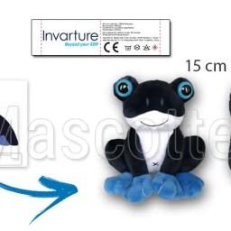 Fabrication Peluche Sur Mesure grenouille invarture. Peluche Publicitaire.