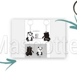 Fabrication Porte Clés Sur Mesure PVC Panda.