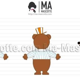 Design 3D Mascotte Sur Mesure Ours. Création graphique Mascotte.