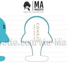 Design 3D Peluche Sur Mesure Baleine. Création graphique Peluche.