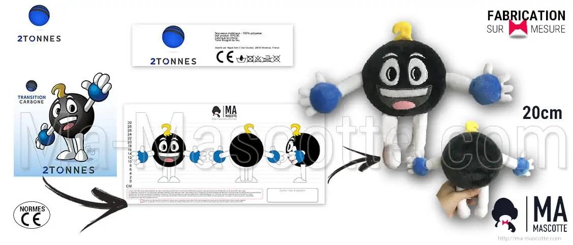 Custom ball shape or carbon atom plush toys for the customer 2TONNES. Original customized plush toy ball shape.