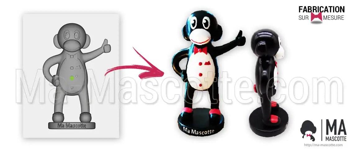 Custom figurine MaMascotte. Manufacturer of custom figurine in resin and PVC. Ma Mascotte figurine.