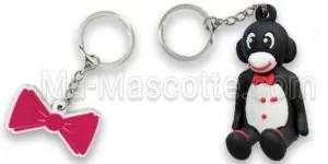 Manufacturer custom keychain in flexible plastic Ma Mascotte