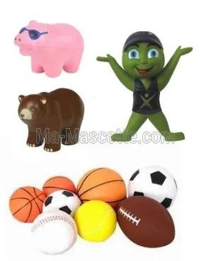 Fabrication Sur Mesure objet antistress mousse (figurine objets publicitaires sur mesure).