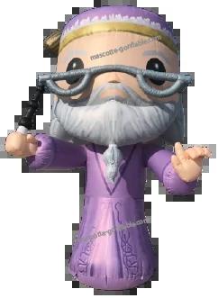 albus dumbledore mascotte gonflable