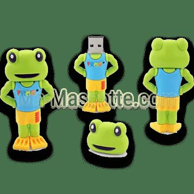 clés USB sur mesure animal grenouille