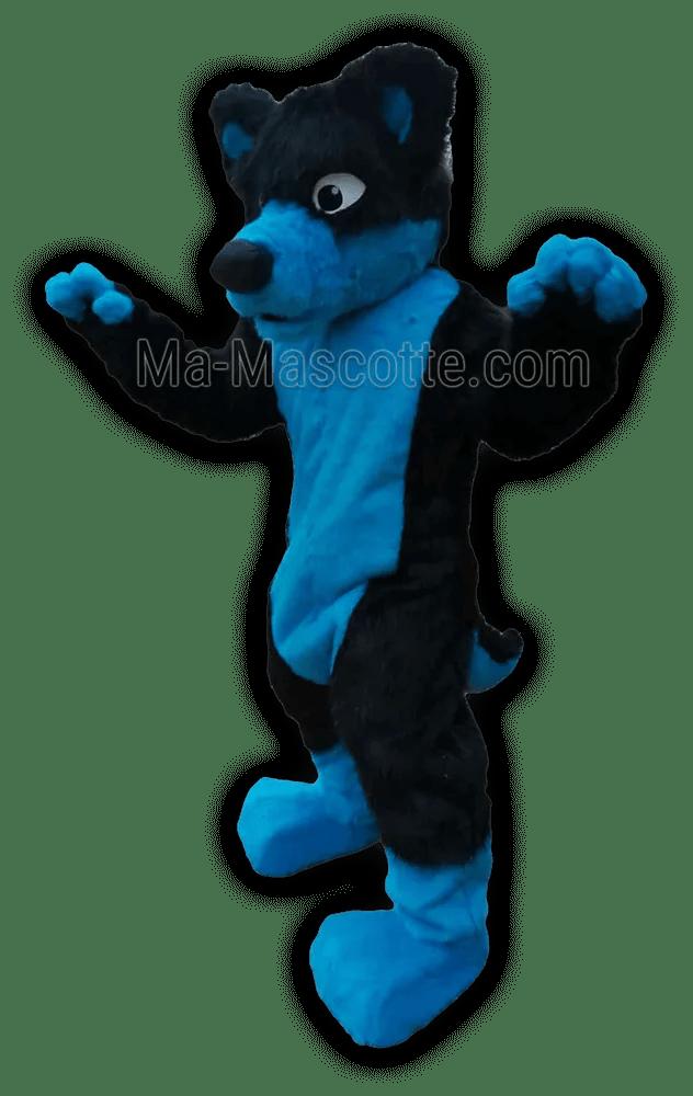 déguisement fursuit cosplay chien bleu