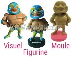 Fabrication Figurine Sur Mesure personnage catch (figurine résine sur mesure).