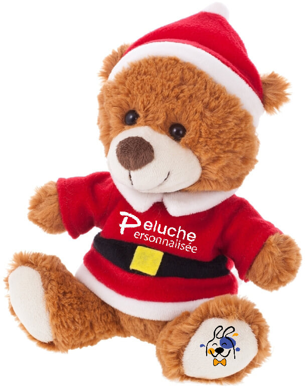 Personalised christmas teddy. Personalised christmas teddy bear with logo.