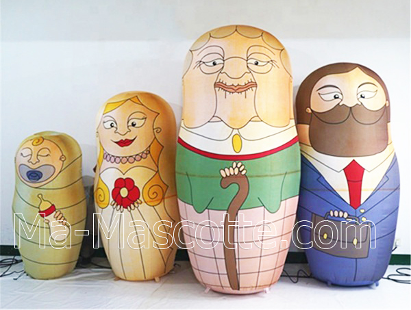 RUSSIAN DOLL INFLATABLE POS