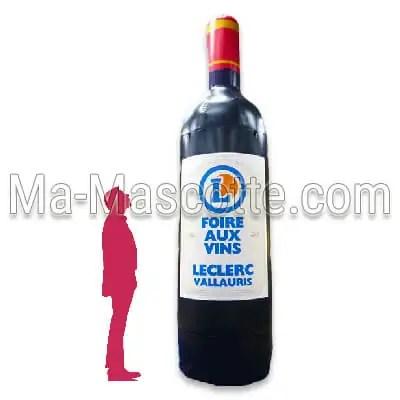 bouteille vin gonflable PLV Leclerc