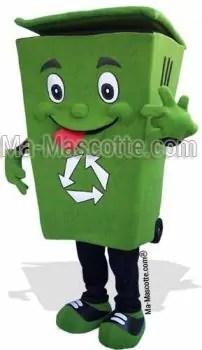 Fabrication Mascotte Sur Mesure poubelle (mascotte objet sur mesure).