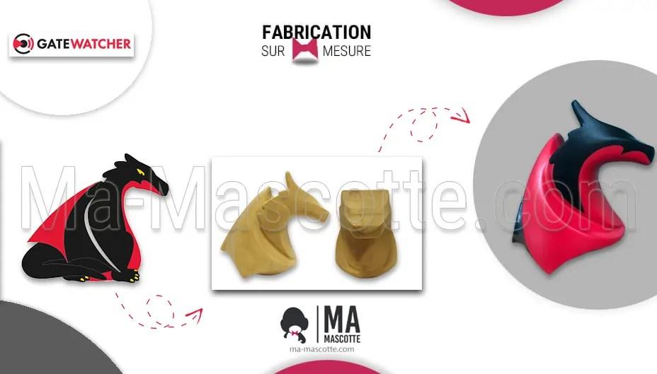 Fabrication Figurine Sur Mesure Résine Dragon GateWatcher. Figurine Personnalisée.