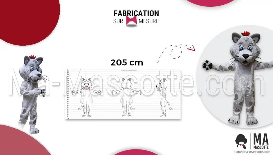 Fabrication Mascotte Sur Mesure d'un tigre blanc (mascotte objet sur mesure).