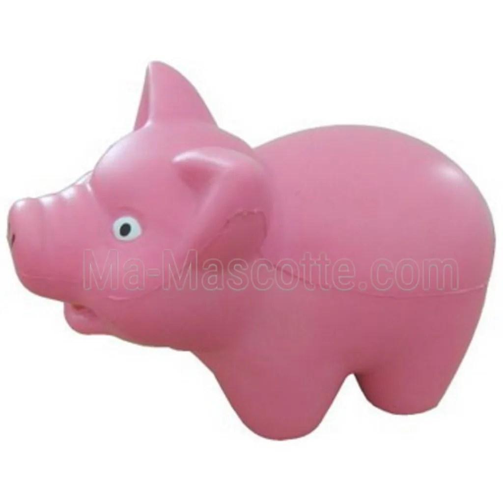 Antistress en forme de cochon en mousse