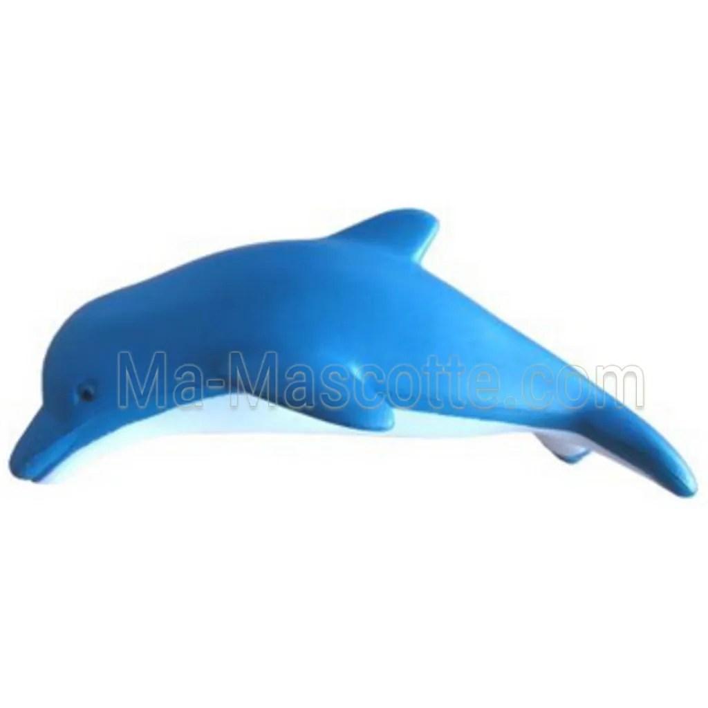 Réplique d'un dauphin bleu en mousse antistress
