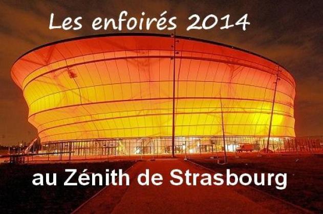 Le Zénith de Strasbourg pour le passage du concert des Enfoirés