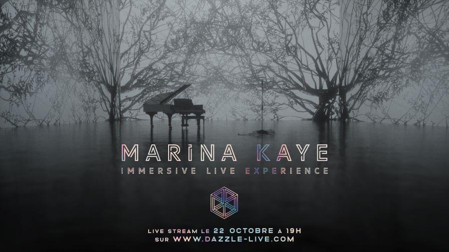 La nouvelle plateforme de live stream musical Dazzle propose Marina Kaye comme premier concert