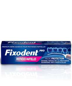 Fixodent pro microprotection protheses partielles creme adhesive