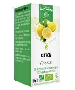 Huile essentielle de citron bio Dayang