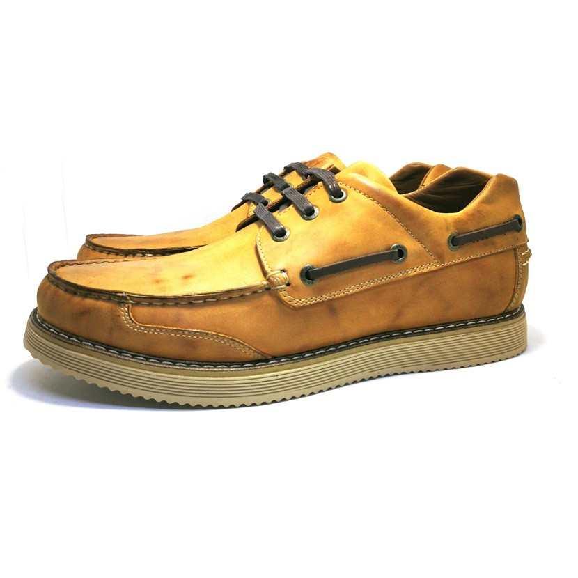 Chaussure homme de style SEBAGO-Confort pour homme camel