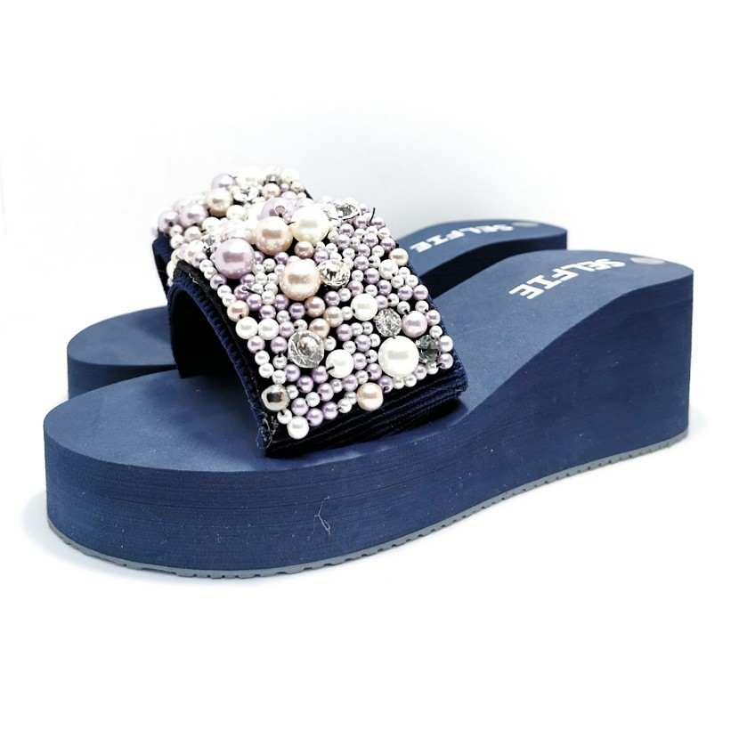 sandale tongs PERLO bleu