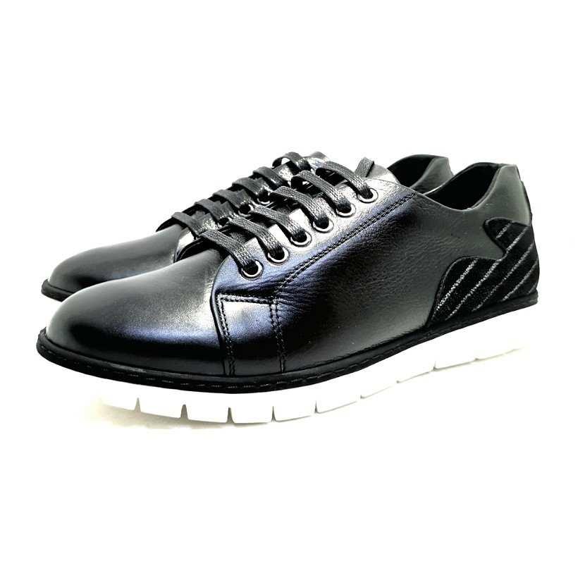 Chaussure homme de style Basket THOWS-Confort pour homme noir