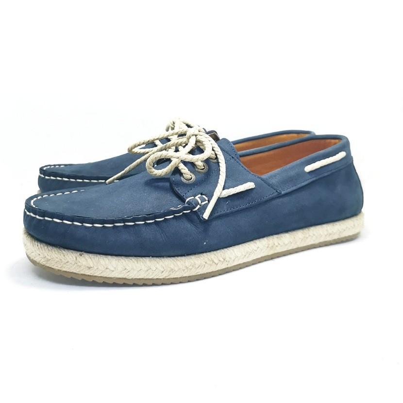 mocassin bateaux pour homme bleu