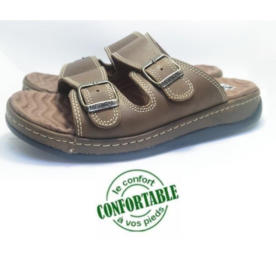 sandale médical MOLEX olive pour homme