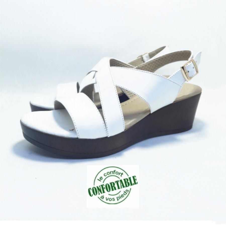 sandale médicale VALDROZ blanc