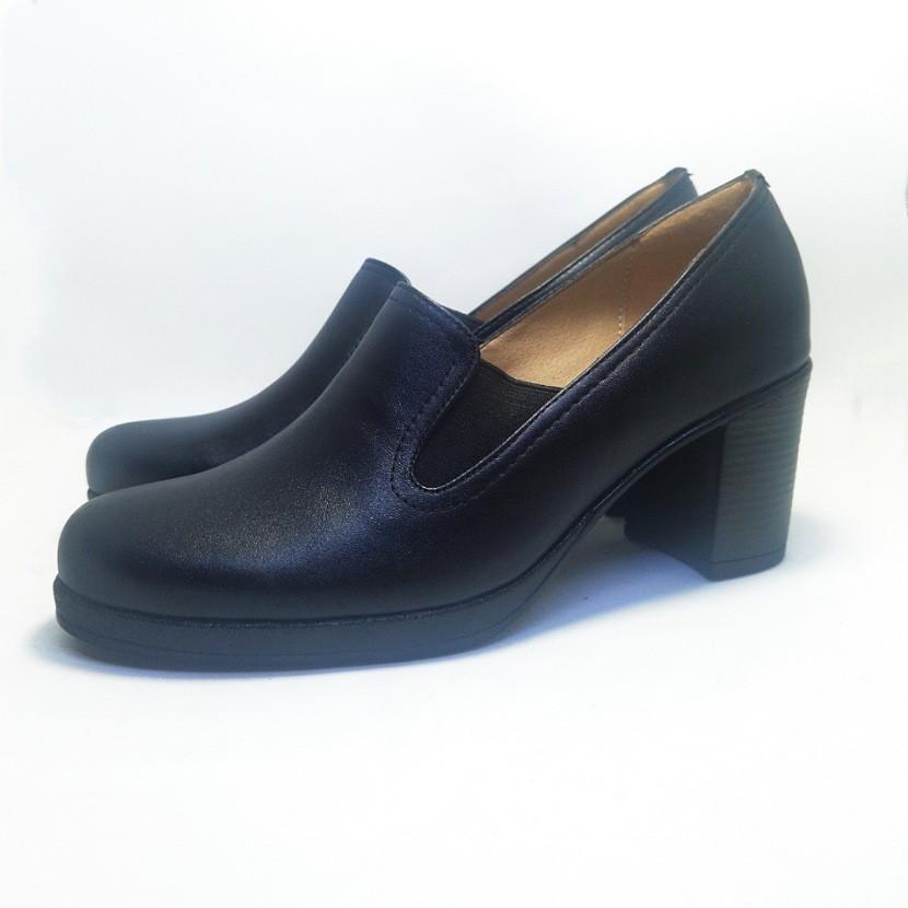Chaussure femme avec talon CROCM couleur noir