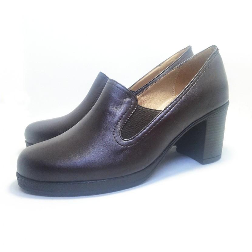 Chaussure femme avec talon CROCM couleur marron
