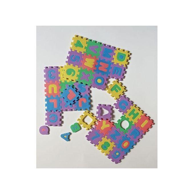 36 pieces puzzle chiffre alphabet lettres tapis enfant jouet educatif