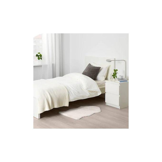 tapis chambre a coucher blanc 55 x 85 cm