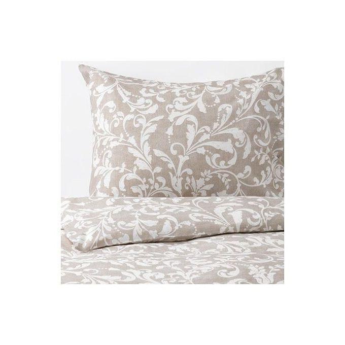 Ikea Linge De Lit Housse De Couette Et 2 Taies D Oreiller Motif Beige Blanc 240x220 50x60 Cm A Prix Pas Cher Jumia Maroc