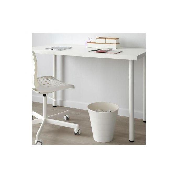 poubelle blanc 10 l corbeille de bureau et salle de bain 28 cm