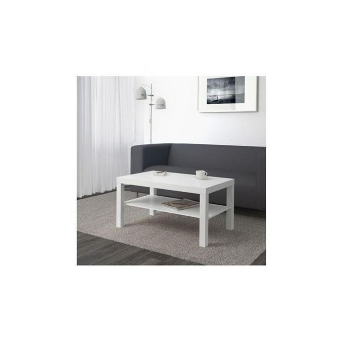 table basse blanche 90x55