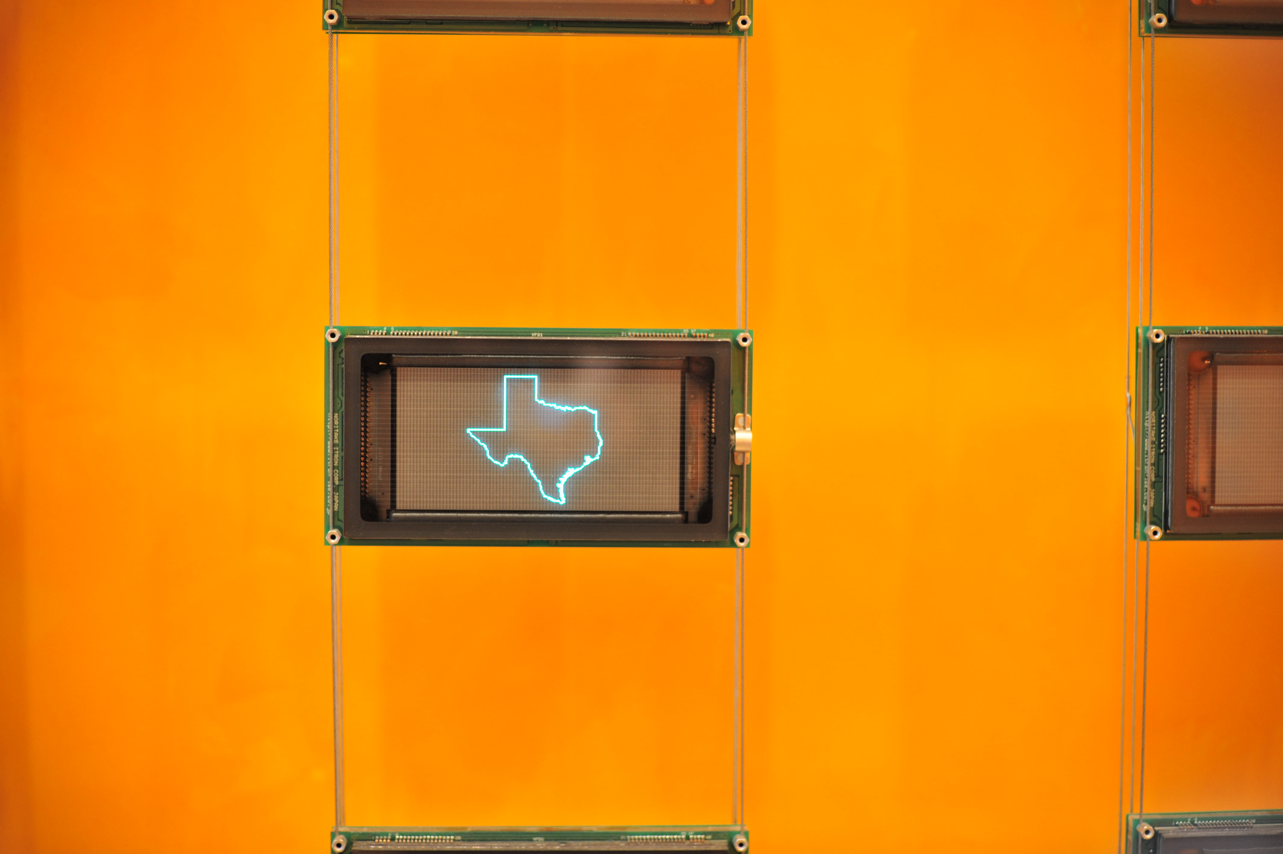Texas LCD at New York Times building1 Comment