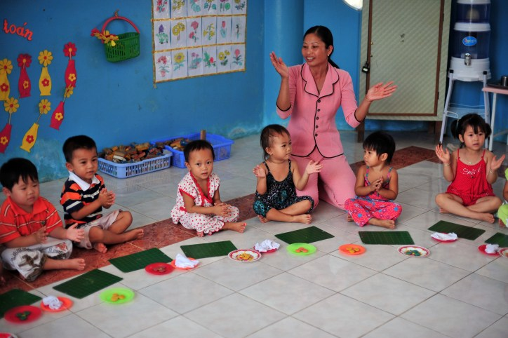 The school starts classes at 2 years old