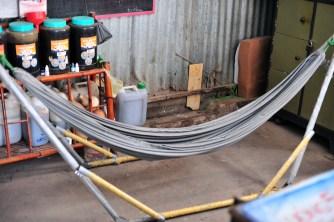 There were hammocks everywhere, I love it