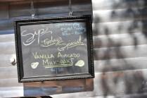 The vanilla avacado milkshake (I did it with Coconut Bliss) was amazing