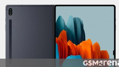 Photo of Samsung Galaxy Tab S8 Ultra breaks cover with a notched display
