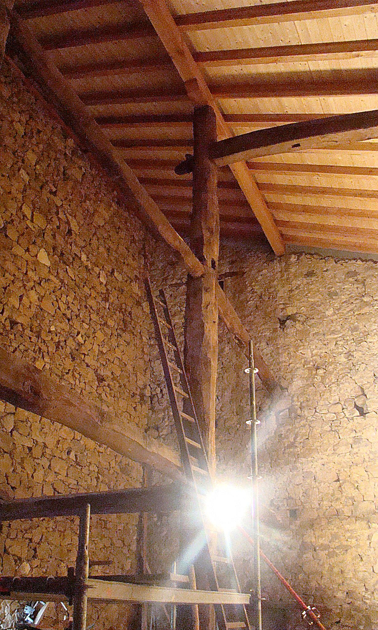 Vigas y pilares de madera maab arquitectura - Vigas de maderas ...