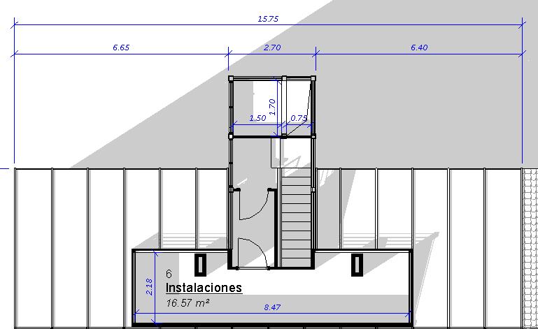 Biomasa ubicación en cubierta