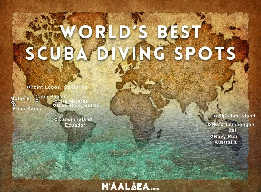 World Scuba Diving Map