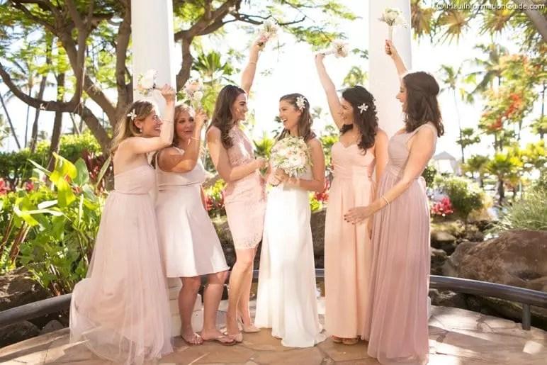 bridesmaids in Maui, Hawaii